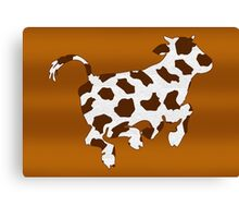 Cow With Brown Spots   Canvas Print