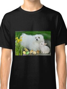 Snowdrop the Maltese at Easter Classic T-Shirt