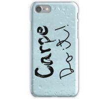Carpe Do it! (rain background) iPhone Case/Skin