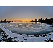 Boston on ice Photographic Print