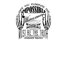 sherlock holmes belief Photographic Print