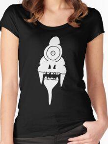 ICE CREAM SKULL Women's Fitted Scoop T-Shirt