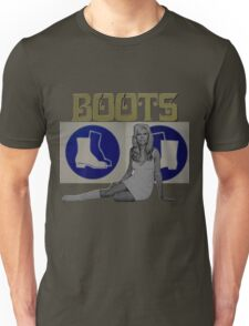 These boots are made for walking... Unisex T-Shirt