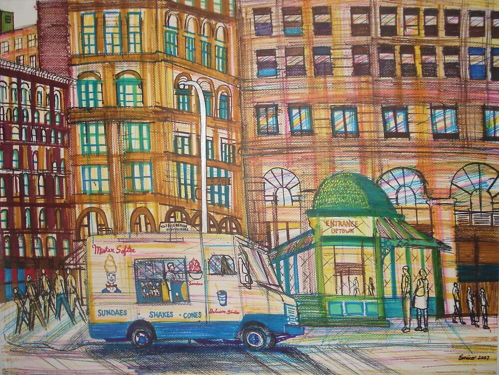 ice cream truck by Enrico Thomas