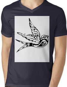 Bird Abstract Mens V-Neck T-Shirt