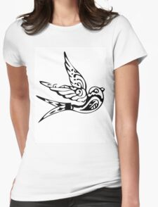 Bird Abstract Womens Fitted T-Shirt
