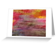 Abstract Color Greeting Card