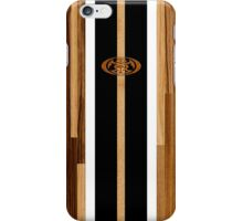 Rocky Point Hawaiian Engineered Faux Wood Surfboard -Black iPhone Case/Skin