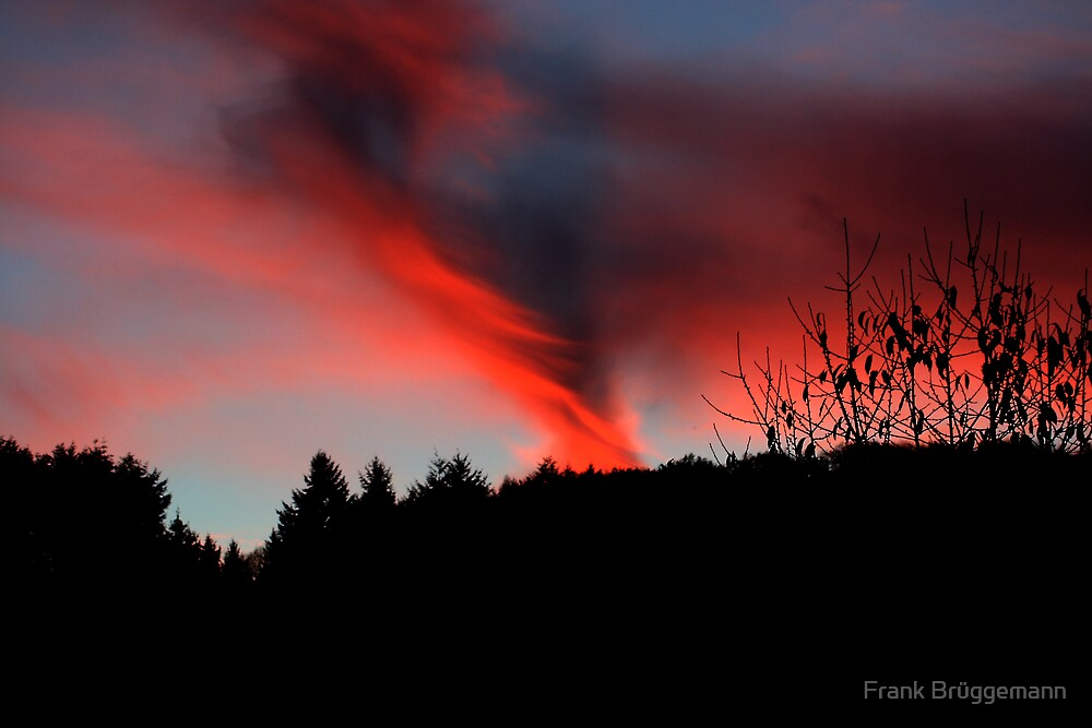 amazing colours in the sky by Frank Brüggemann