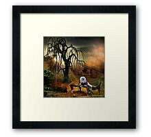Snowdrop the Maltese - Shades of the Fall Framed Print