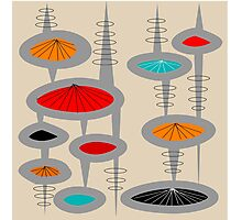 Atomic Era Inspired Art Photographic Print