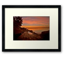 Sunrise Puddle Reflection Framed Print