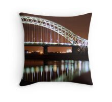 Runcorn Widnes Bridge Throw Pillow