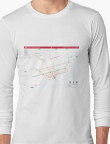 TTC System Map Long Sleeve T-Shirt