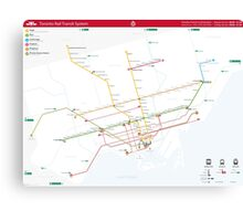 TTC System Map Canvas Print