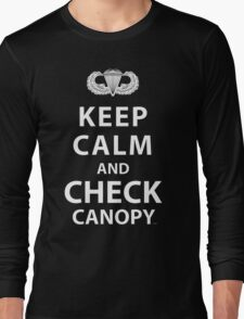 KEEP CALM AND CHECK CANOPY Long Sleeve T-Shirt
