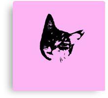 Pink Kitty Head Canvas Print