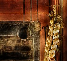 Still life of garlic by Mike  Savad