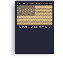 Enduring Freedom Afghanistan Canvas Print