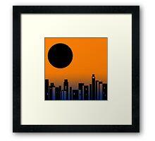 Black Moon Skyline Framed Print