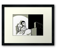 Small Town Television Framed Print