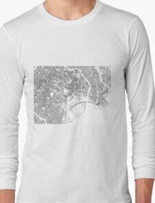 Streets - Tokyo (Black on White) Long Sleeve T-Shirt
