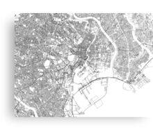 Streets - Tokyo (Black on White) Metal Print