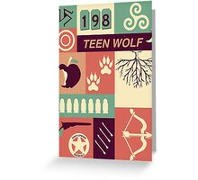 Teen Wolf Poster Greeting Card