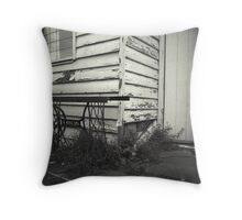 singing in the outhouse Throw Pillow