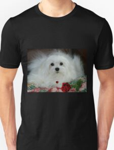 Snowdrop the Maltese on Mother's Day T-Shirt