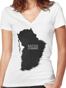 The Battle is Coming Women's Fitted V-Neck T-Shirt