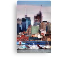New York Cityscape with boats Canvas Print