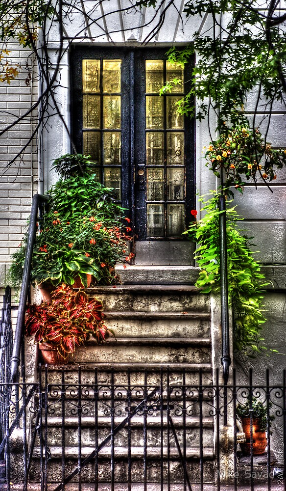 Stairs with still life by Mike  Savad