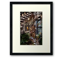 Hidden Side door Framed Print