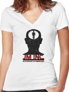 JM Inc. from Being John Malkovich Women's Fitted V-Neck T-Shirt