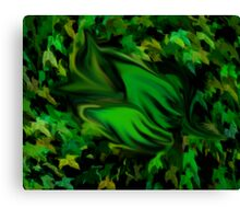 Sleeping forest baby Canvas Print