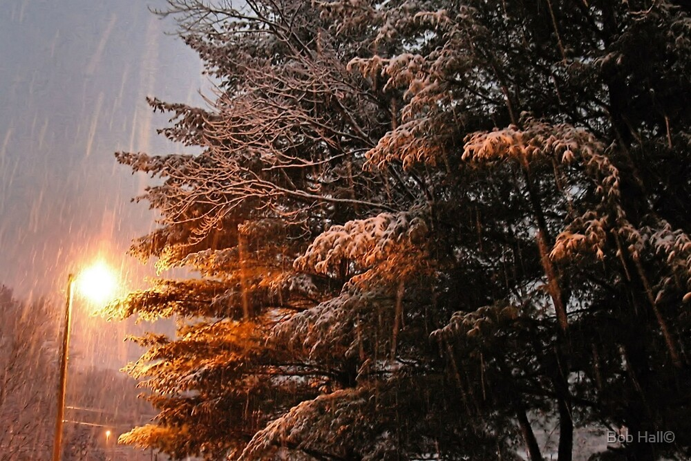 """""""A Snowy Evening in Knoxville"""" (a series, no.7) by © Bob Hall"""