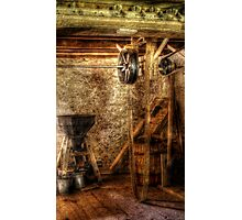 Inside an old mill Photographic Print
