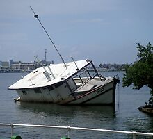 Grounded Boat by Sam Hanie