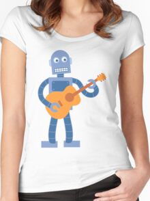 Guitar Robot Women's Fitted Scoop T-Shirt