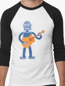Guitar Robot Men's Baseball ¾ T-Shirt