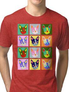 Boston Terrier Pop Art Tri-blend T-Shirt