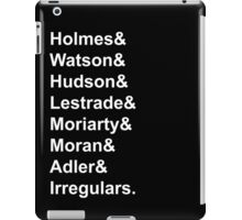 Sherlock Holmes Character List (White Text) iPad Case/Skin