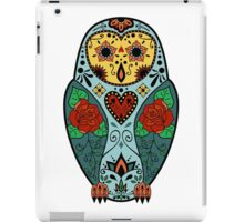 Sugar Skull Barn Owl iPad Case/Skin
