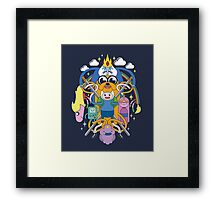 Adventure Time Inspired Multi-Character Design Framed Print