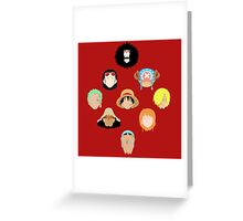 Straw Hats Greeting Card