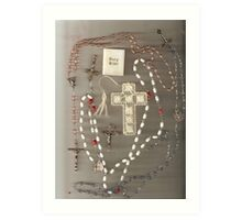 Rosaries and Crosses Art Print