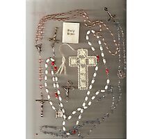 Rosaries and Crosses Photographic Print