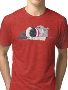 camera and brush Tri-blend T-Shirt