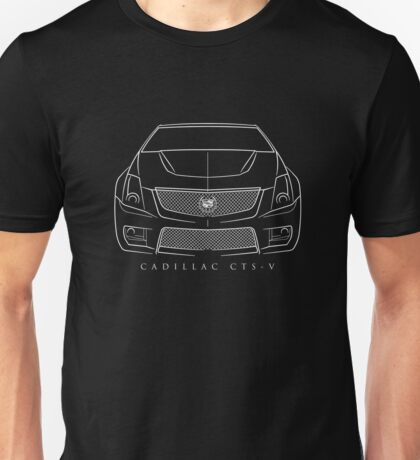 Cadillac CTS-V - Front Stencil, white Unisex T-Shirt